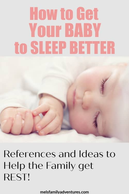 sleeping baby with text