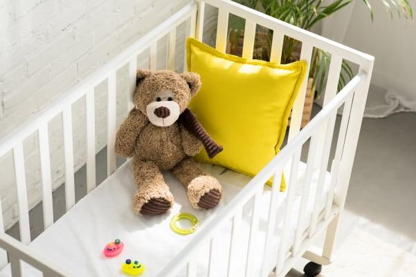 small crib in nursery