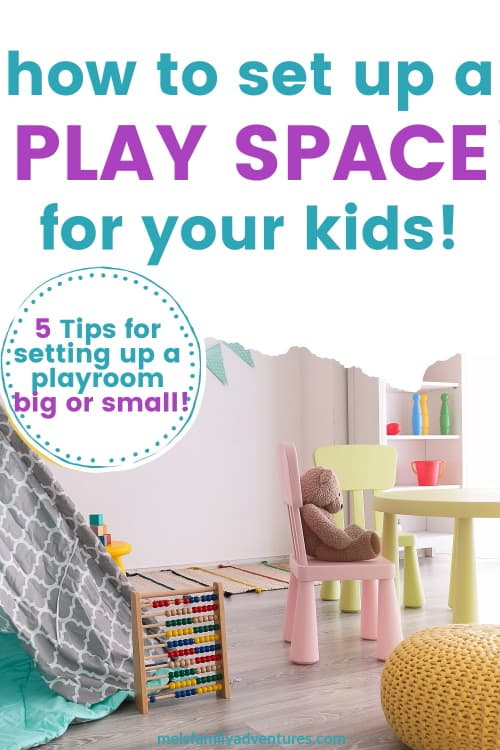 kids playroom with surrounding text
