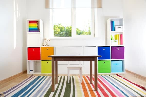 Storage for organizing playroom