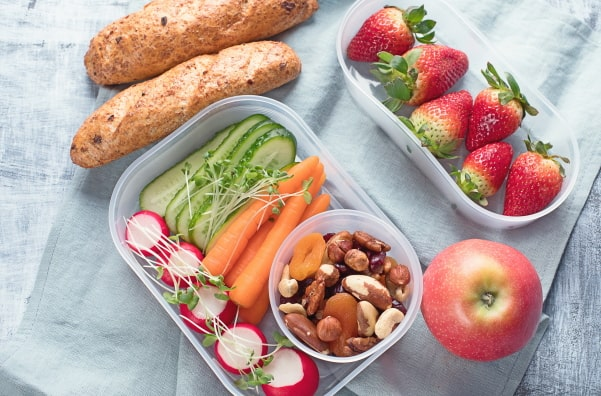 group of healthy snacks